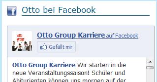 Gefällt mir Button auf Otto Group Karriere