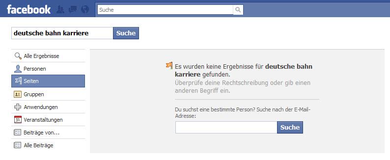 Suchergebnis Deutsche Bahn Karriere bei Facebook
