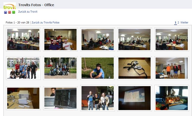 Fotoalbum auf der Trovit Fanpage - Einblicke in den Arbeitsalltag