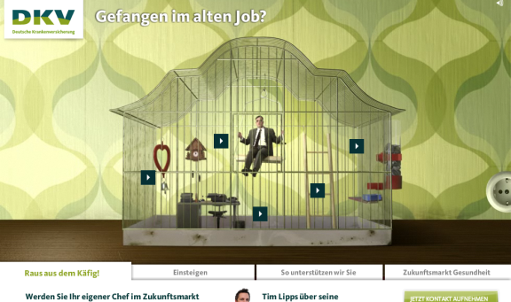 """DKV Karriere-Microsite """"Jobs in Freiheit"""""""