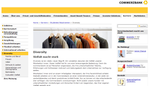 Hat die Karriere-Website ausgedient? 1 vorbildlich informationen zu diversity auf der commerzbank hr website