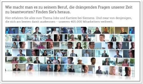 Siemens Startseite: Was soll das - welche Funktion hier hintersteckt, wird nicht klar