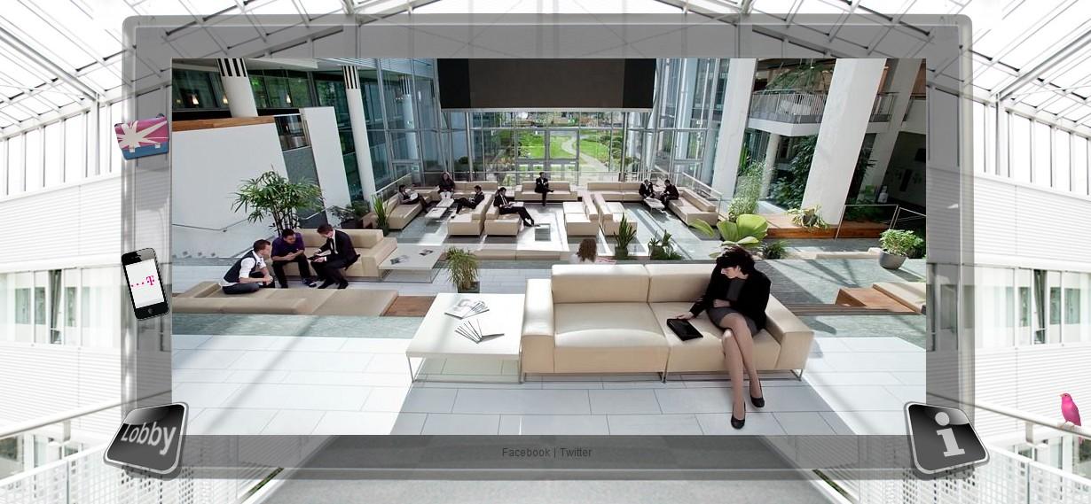 Wissen verändert alles - Einblicke ins Foyer der Telekomzentrale