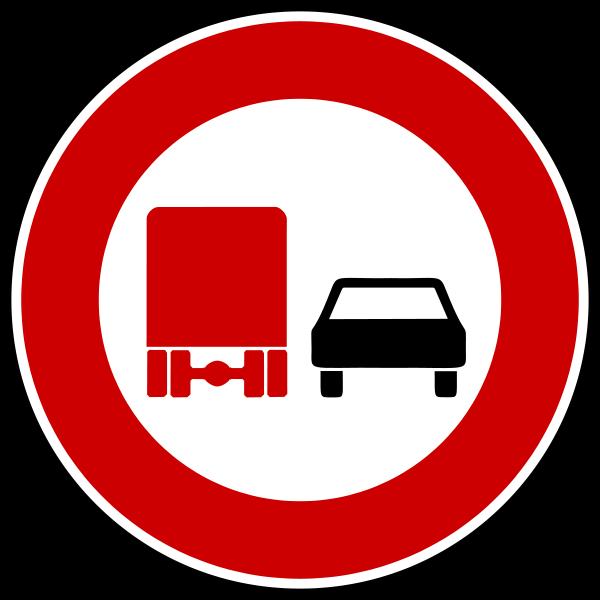Überholverbot für Kraftfahrzeuge mit einem zulässigen Gesamtgewicht über 3,5 t, einschließlich ihrer Anhänger, und Zugmaschinen, ausgenommen Personenkraftwagen und Kraftomnibusse