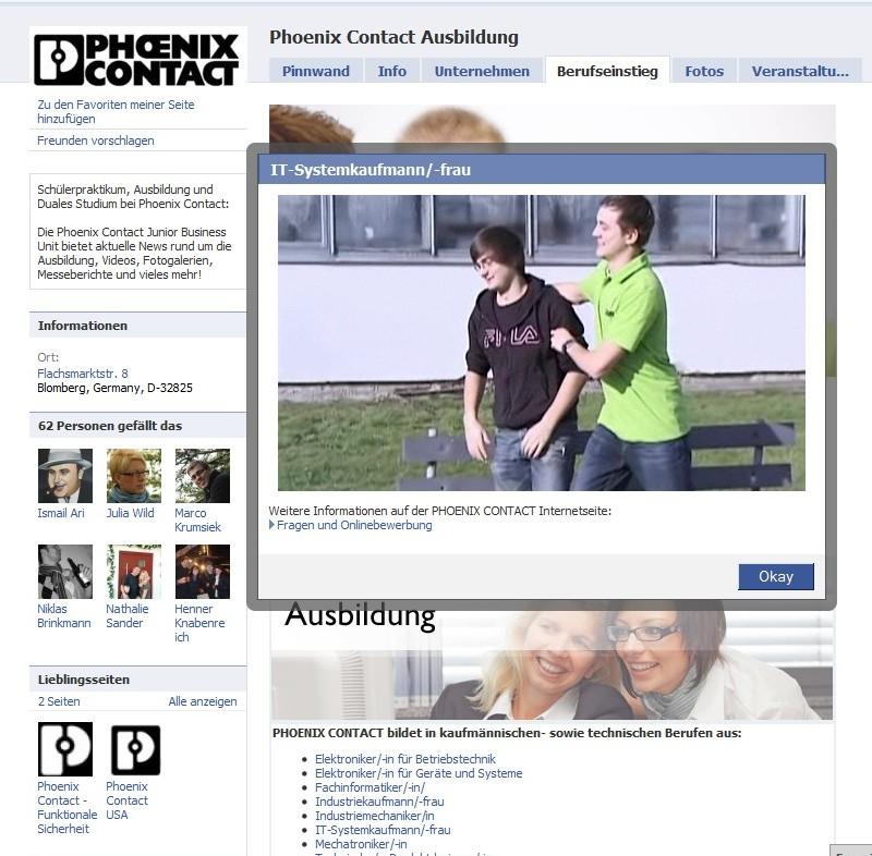 Phoenix Contact - Aufwendige Apps mit Kurzvideos zu jedem einzelnen Ausbildungsberuf. Respekt!