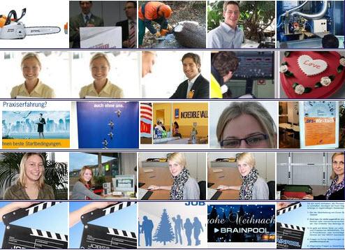 Beispiele für Bildergalerien von Karriere-Pages