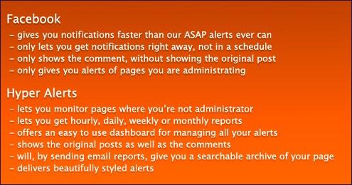 Facebookbenachrichtung vs. Hyper Alerts - Quelle: Hyper Alerts