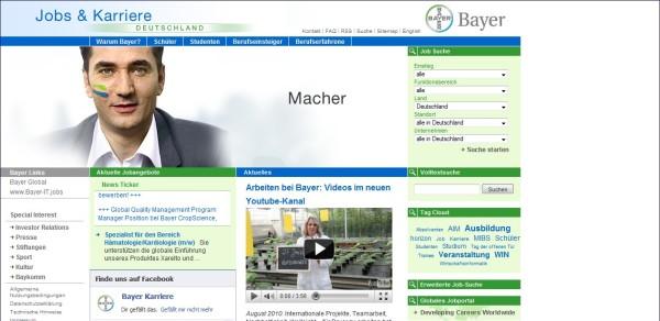 Bayer: Zielgruppenführung, chaotische Linkwüsten, unübersichtlich