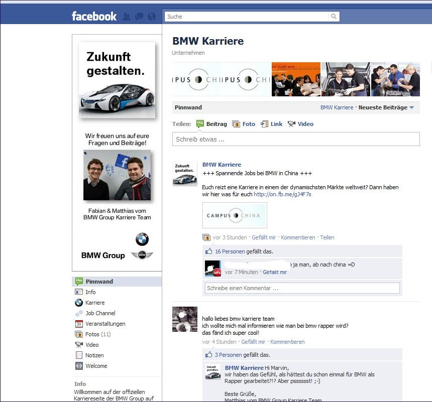 BMW Karrierepage