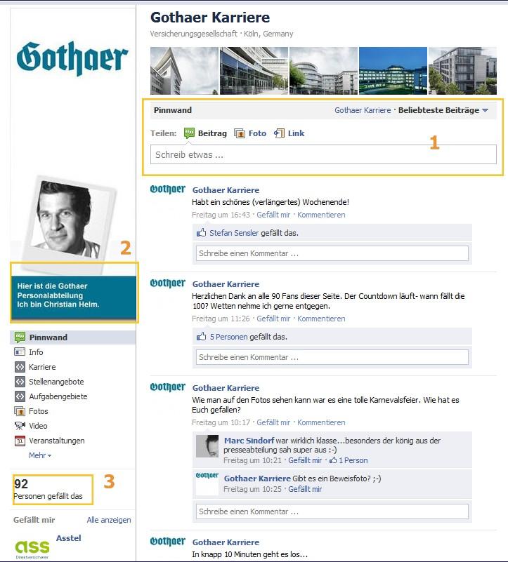 Die Karriere-Page von Gothaer Karriere