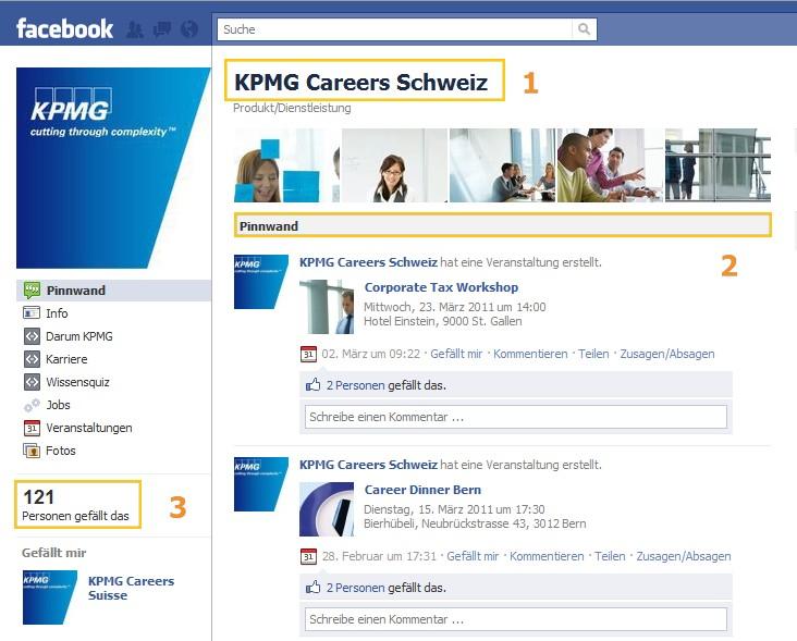 Karriere-Page von KPMG Schweiz