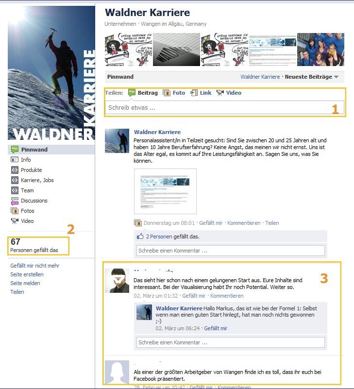 Karriere-Page Waldner Karriere