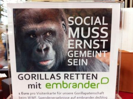 Social muss ernst gemeint sein - Motto der embrander-Kampagne auf der internetworld