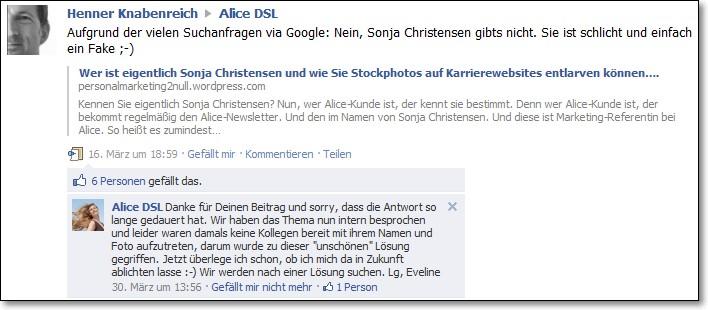 Sonja Christensen und Alice DSL