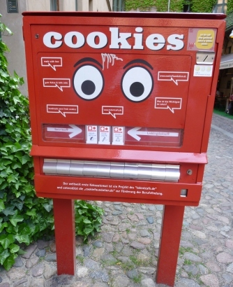 Cookie-Automat im Kunsthof in der Oranienburger Straße