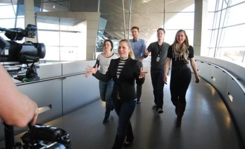 Making of BMW Praktikum Rap - man merkt, die Beteiligten waren mit Begeisterung dabei