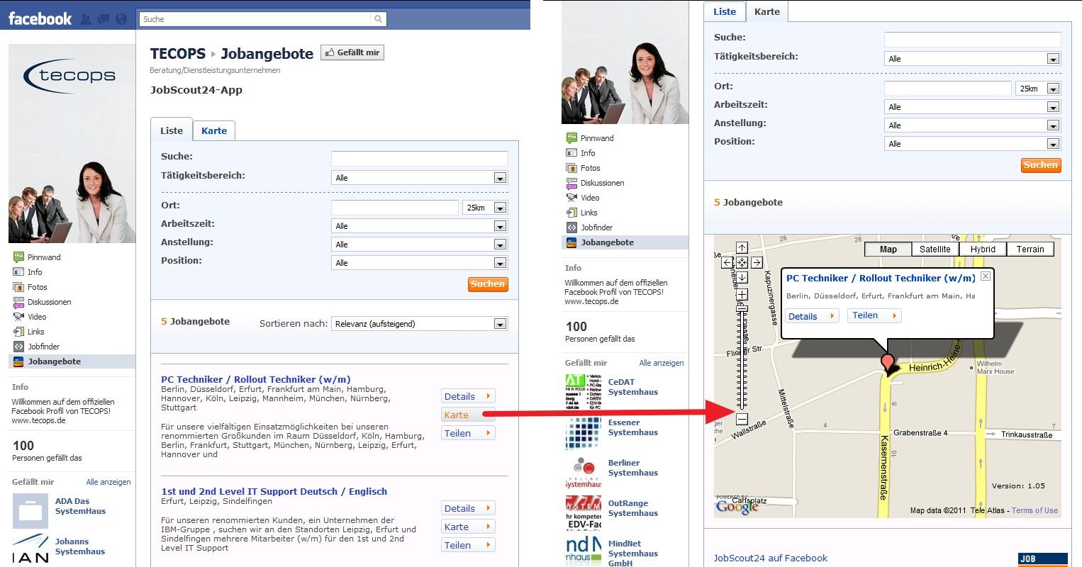 Jobscout24 JobApp im Einsatz bei TECOPS