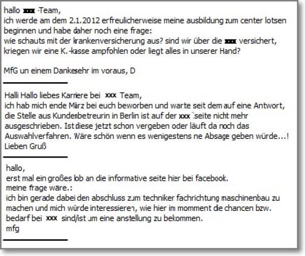 Fan-Anfragen mit mangelhafter Rechtschreibung auf Facebook-Karrierepages - machen Social Media dumm?