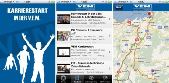 V.E.M. iPhone-App