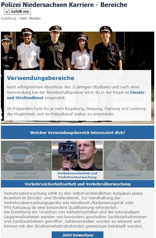 die polizei dein freund und helfer personalmarketing und ffentlichkeitsfahndung auf facebook - Polizei Niedersachsen Bewerbung