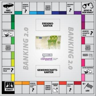 Das Banking-2.0-Monopoly-Spielfeld - Quelle: Young Targets