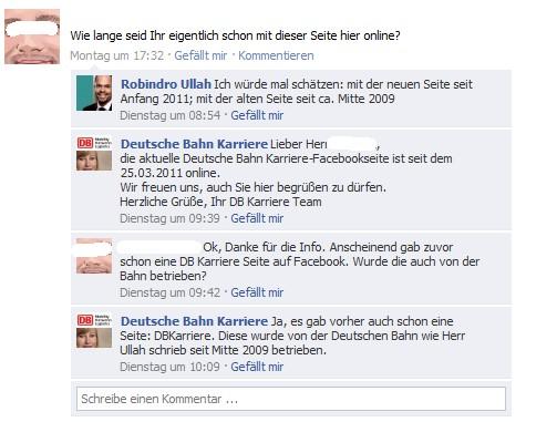 Dialog auf der DB Karriere-Page