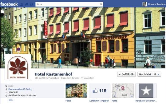 Hotel Kastanienhof Berlin auf Facebook