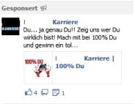 Auch Facebook Ads bringen die Aktion nicht ins Rollen