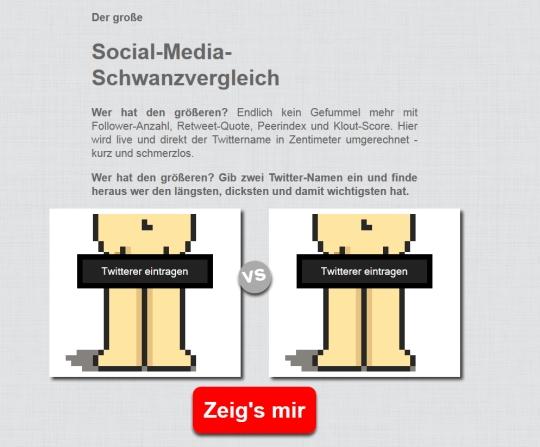Der große Social Media Schwanzvergleich