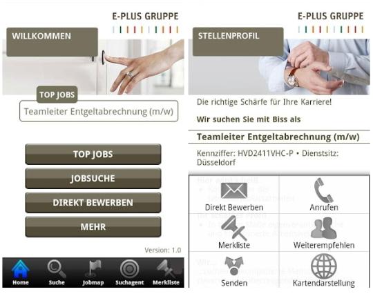 E-Plus JobConnect - intuitives Bewerben geht anders