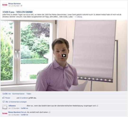 Lukas Zulehner von Brose Karriere sagt danke